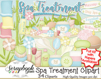 SPA TREATMENT Clipart and Papers