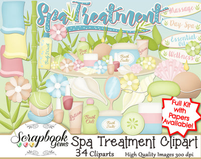 SPA TREATMENT Clipart