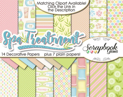 SPA TREATMENT Digital Papers