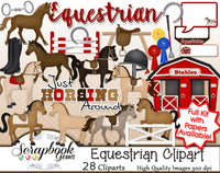 EQUESTRIAN Clipart and Papers