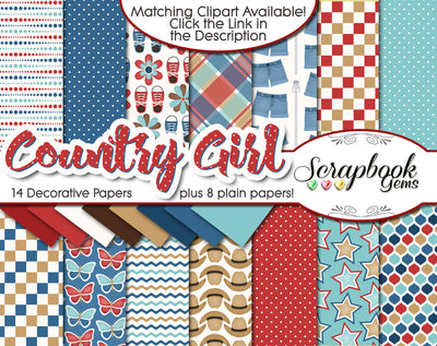 COUNTRY GIRL Digital Papers