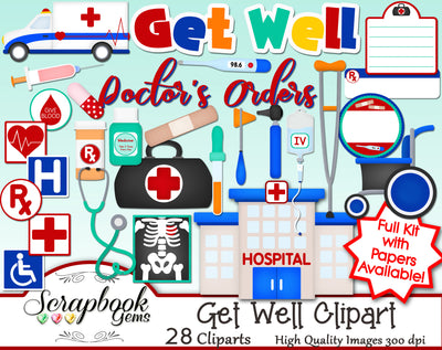 GET WELL Medical Clipart