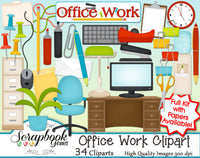 OFFICE WORK Clipart