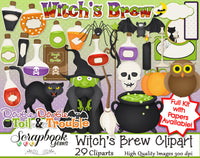WITCH'S BREW Clipart and Papers