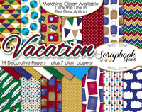 VACATION Travel Digital Papers