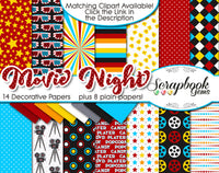 MOVIE NIGHT Digital Papers