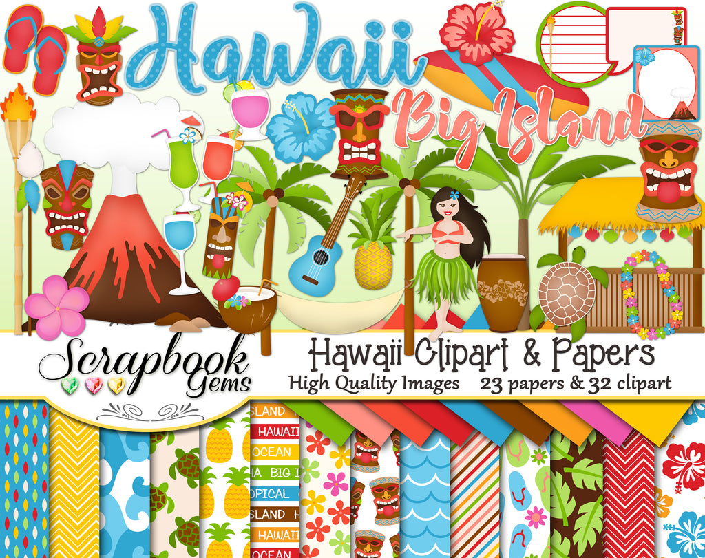 HAWAII Clipart and Papers
