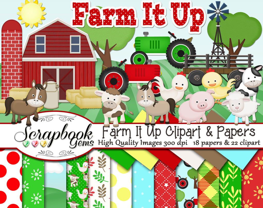 Farm it Up!  Clipart & Papers