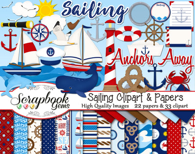 SAILING Clipart and Papers