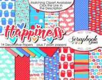 HAPPINESS Clipart and Papers