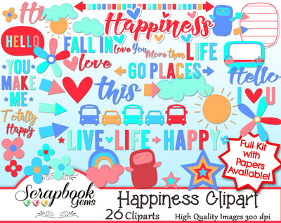 HAPPINESS Clipart