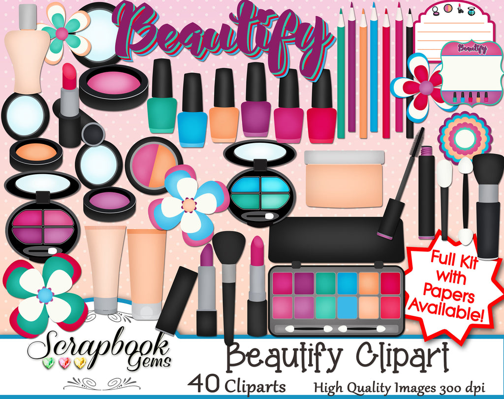 BEAUTIFY Cosmetic Clipart
