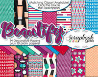 BEAUTIFY Cosmetic Digital Papers