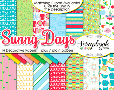 SUNNY DAYS Digital Papers