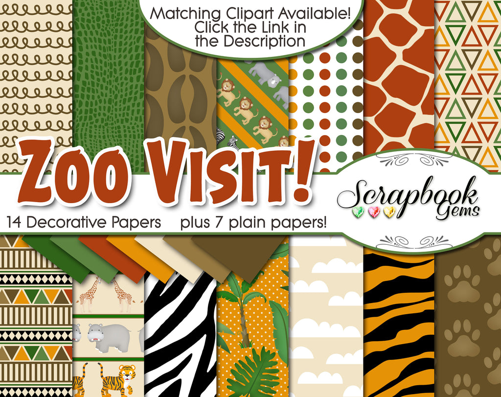 ZOO VISIT Digital Papers