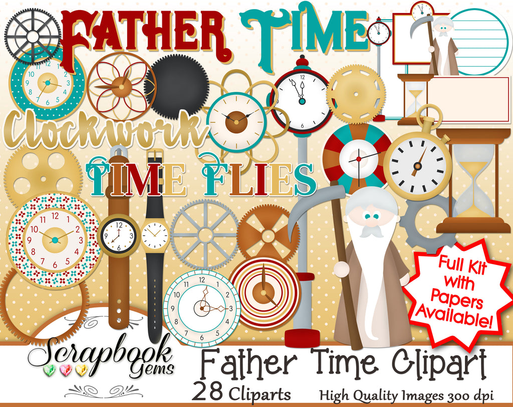 FATHER TIME Clipart