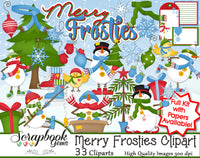 MERRY FROSTIES Clipart