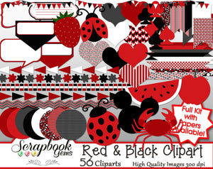 RED & BLACK Clipart