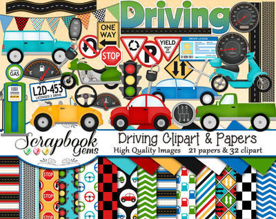 DRIVING Clipart and Papers