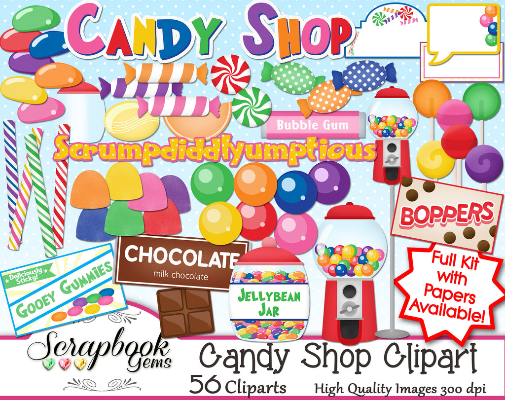 CANDY SHOP Clipart