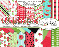 WATERMELONS Digital Papers