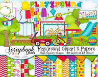 PLAYGROUND Clipart and Papers
