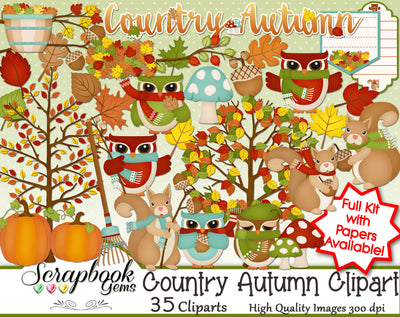 COUNTRY AUTUMN Clipart