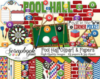POOL HALL Clipart and Papers