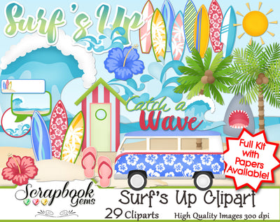 SURF'S UP Clipart