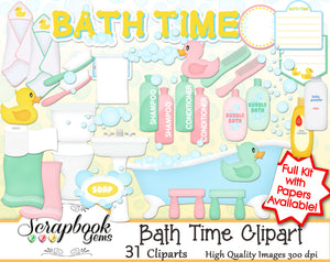 BATH TIME Clipart