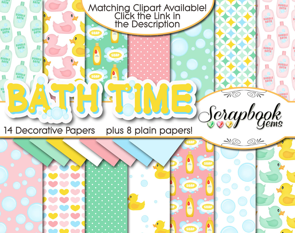 BATH TIME Digital Papers
