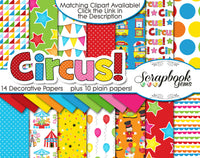 CIRCUS Clipart and Papers