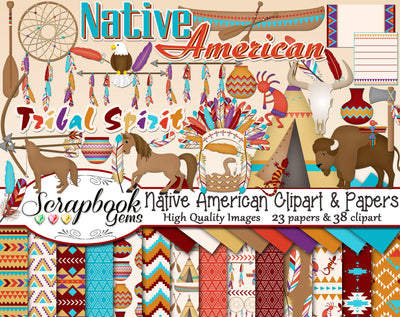 NATIVE AMERICAN Clipart and Papers