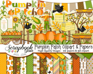 PUMPKIN PATCH Clipart and Papers