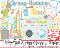 SPRING CLEANING Clipart and Papers