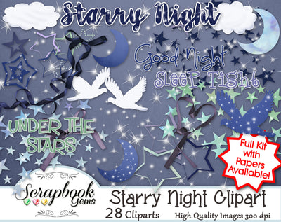 STARRY NIGHT Clipart