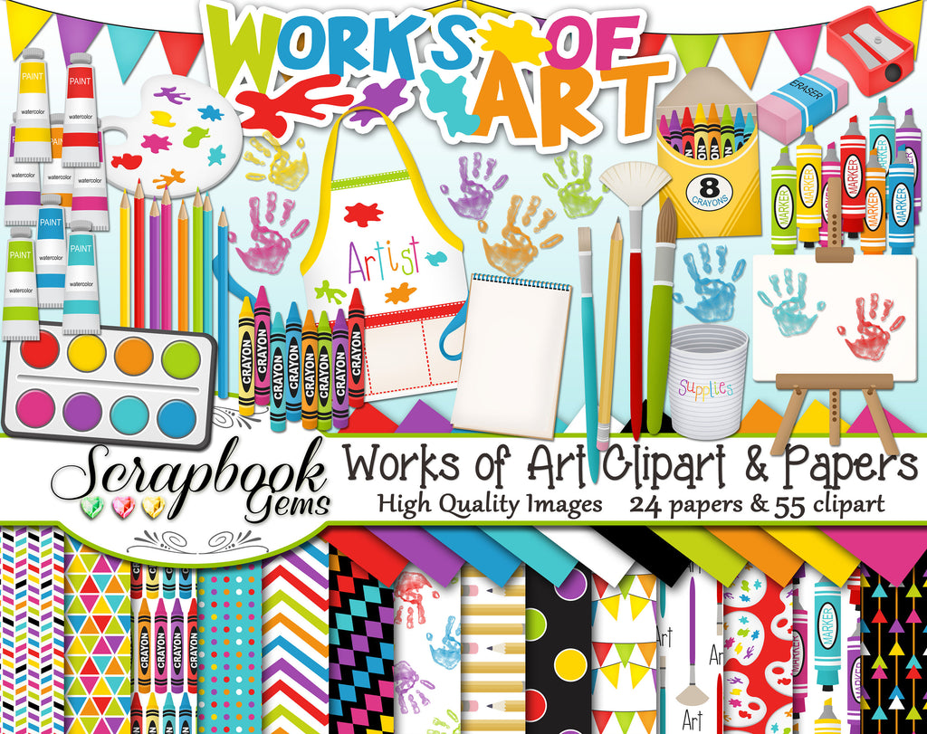 WORKS OF ART Clipart and Papers