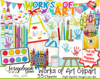 WORKS OF ART Clipart