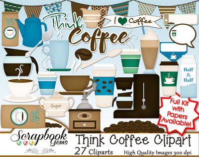 THINK COFFEE Clipart
