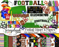 FOOTBALL Clipart and Papers