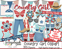 COUNTRY GIRL Clipart