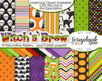 WITCH'S BREW Digital Papers