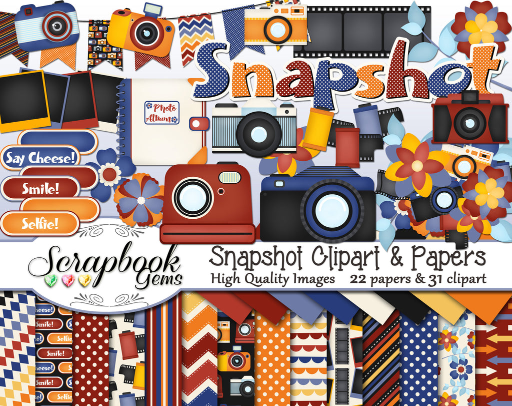 SNAPSHOT Camera Clipart and Papers