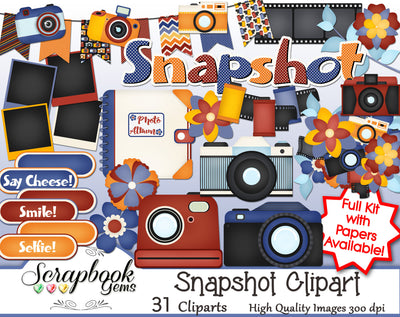 SNAPSHOT Camera Clipart
