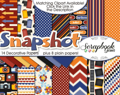 SNAPSHOT Camera Digital Papers