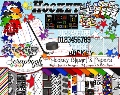 HOCKEY Sports Clipart and Papers