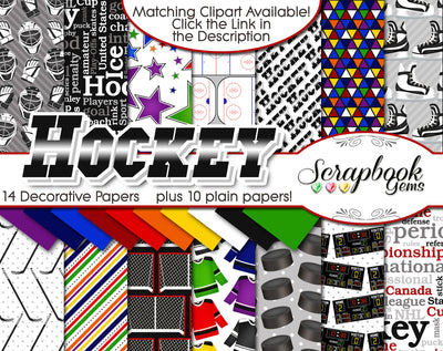 HOCKEY Sports Digital Papers