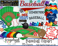 BASEBALL Clipart and Papers