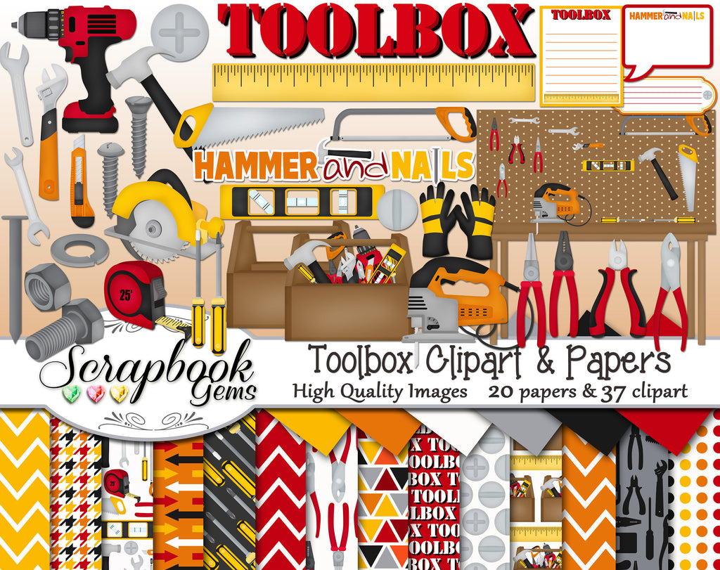 TOOLBOX Clipart and Papers