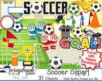 SOCCER Sports Clipart
